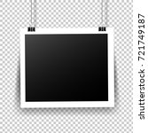 photo frame with tape in... | Shutterstock .eps vector #721749187