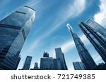 looking up at business... | Shutterstock . vector #721749385