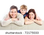 happy family. father  mother... | Shutterstock . vector #72175033