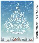 christmas poster. vector... | Shutterstock .eps vector #721751857