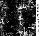 grunge black and white seamless ... | Shutterstock . vector #721753021