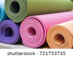 close up of colorful yoga mat... | Shutterstock . vector #721753735