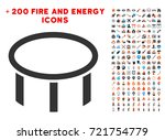 burner nozzle pictograph with... | Shutterstock .eps vector #721754779
