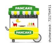 pancake street food cart.... | Shutterstock .eps vector #721754911