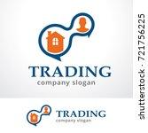 trading logo template design... | Shutterstock .eps vector #721756225