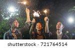 asian group of friends having...   Shutterstock . vector #721764514