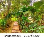 walk way in the park  scenery... | Shutterstock . vector #721767229