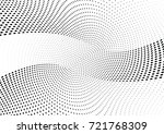 abstract halftone wave dotted... | Shutterstock .eps vector #721768309