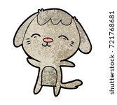 happy cartoon dog | Shutterstock .eps vector #721768681