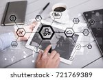 iot  automation  industry 4.0.... | Shutterstock . vector #721769389