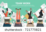 concept for business analysis... | Shutterstock .eps vector #721775821