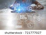 big data technology and... | Shutterstock . vector #721777027