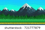 pixel art seamless background.... | Shutterstock .eps vector #721777879