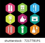 beauty clinic icons vector set | Shutterstock .eps vector #721778191