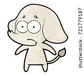 cartoon unsure elephant | Shutterstock .eps vector #721779187