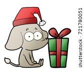 cartoon unsure elephant sat on... | Shutterstock .eps vector #721780051