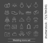 set of outline wedding icon.... | Shutterstock .eps vector #721784341
