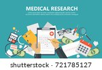 medical research banner.... | Shutterstock .eps vector #721785127