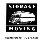 storage moving   retro ad art... | Shutterstock .eps vector #72178588