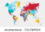 color world map | Shutterstock .eps vector #721789924