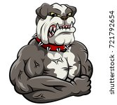 angry dog mascot cartoon.  | Shutterstock . vector #721792654
