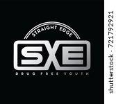 straight edge   drug free youth ... | Shutterstock .eps vector #721792921