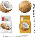 design packaging for coconut...   Shutterstock .eps vector #721792969
