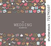 wedding vector background with... | Shutterstock .eps vector #721793107