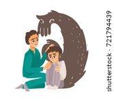 vector flat doctor calming down ... | Shutterstock .eps vector #721794439