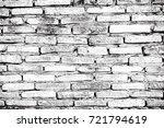white brick wall background in... | Shutterstock . vector #721794619