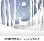paper art landscape of...   Shutterstock .eps vector #721795315