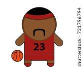 profession character basketball ... | Shutterstock .eps vector #721796794