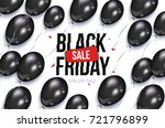 black friday rectangular... | Shutterstock .eps vector #721796899