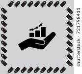 hand and profit vector icon | Shutterstock .eps vector #721798411
