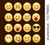 set of smile icons. emoji....