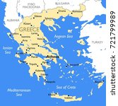 greece map   vector detailed... | Shutterstock .eps vector #721799989