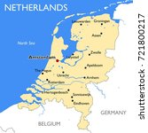 netherlands map   vector... | Shutterstock .eps vector #721800217