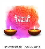 modern diwali design with two... | Shutterstock .eps vector #721801045