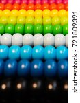 Small photo of Colorful abacus beads