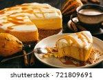 homemade delicious pumpkin...   Shutterstock . vector #721809691