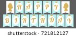 printable template flags. cute... | Shutterstock .eps vector #721812127