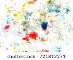 colorful oil art stroke design... | Shutterstock . vector #721812271