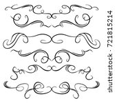 decorative monograms and... | Shutterstock .eps vector #721815214