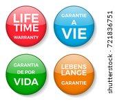 lifetime warranty badge in 4... | Shutterstock .eps vector #721836751