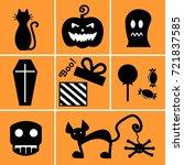 set of black icons for...   Shutterstock .eps vector #721837585