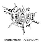 circuit board graphic concept... | Shutterstock .eps vector #721842094