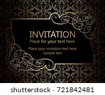 vintage baroque gold invitation ... | Shutterstock .eps vector #721842481