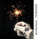 festive merry christmas... | Shutterstock . vector #721842655