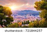 sunset aerial view of nice ... | Shutterstock . vector #721844257
