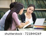group of student seaching... | Shutterstock . vector #721844269